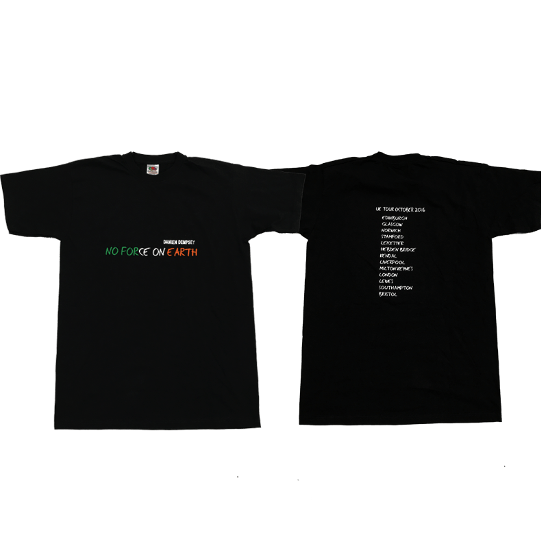 Buy Online Damien Dempsey - No Force On Earth UK Tour T-Shirt