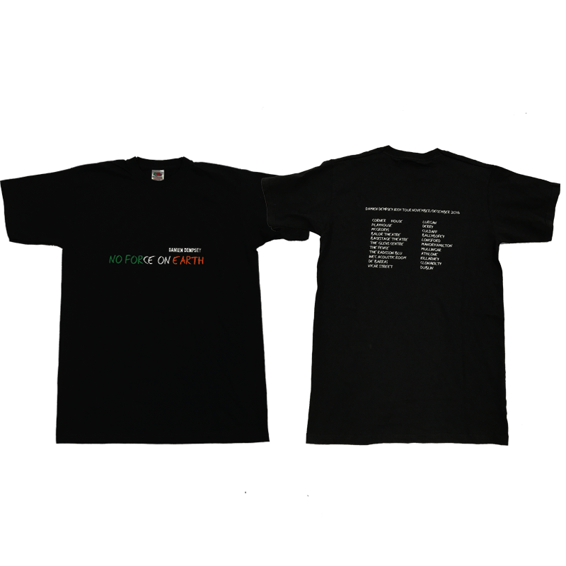 Buy Online Damien Dempsey - No Force On Earth Irish Tour T-Shirt
