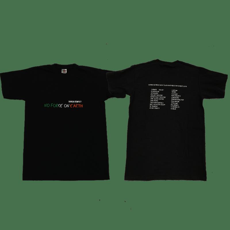 Buy Online Damien Dempsey - No Force On Earth - Irish Tour T-Shirt