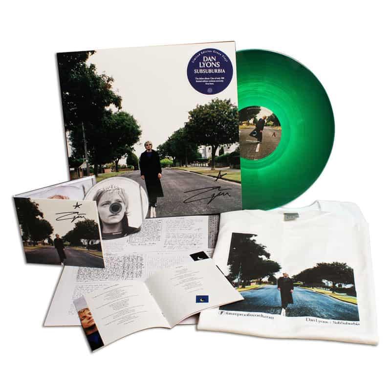 Buy Online Dan Lyons - SubSuburbia CD (Signed) & Green Vinyl (Signed) + FREE T-Shirt