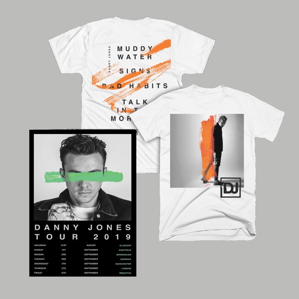 Buy Online Danny Jones - 2019 Tour T-Shirt and A2 Tour Poster