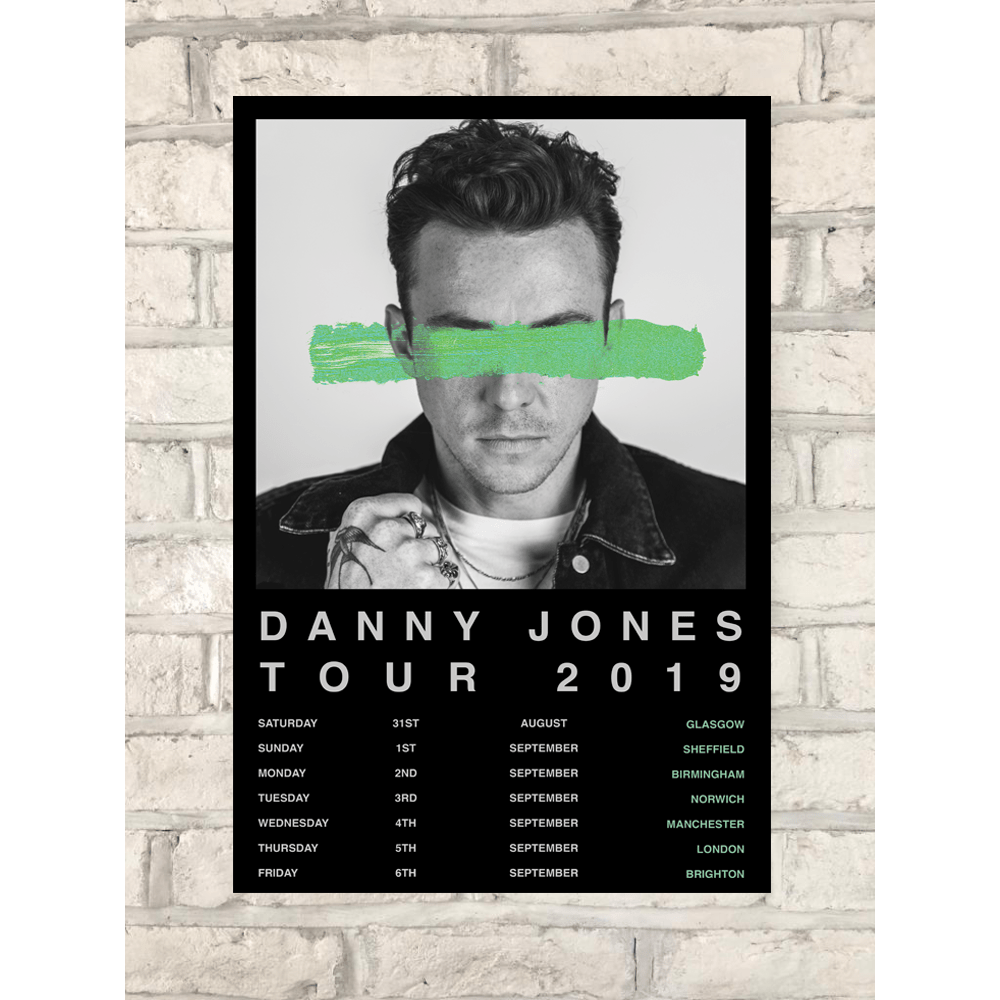 Buy Online Danny Jones - 2019 A2 Tour Poster