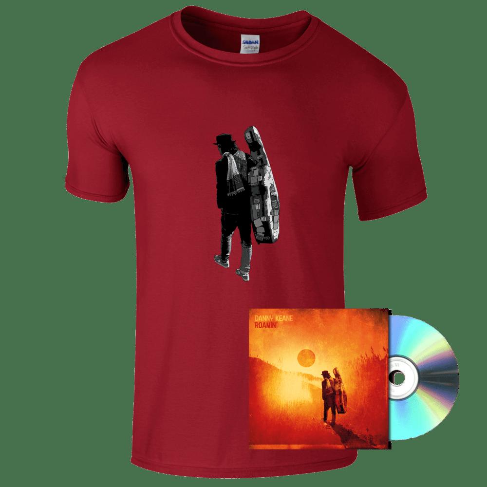 Buy Online Danny Keane - Roamin' - (Red) T-Shirt and CD Bundle