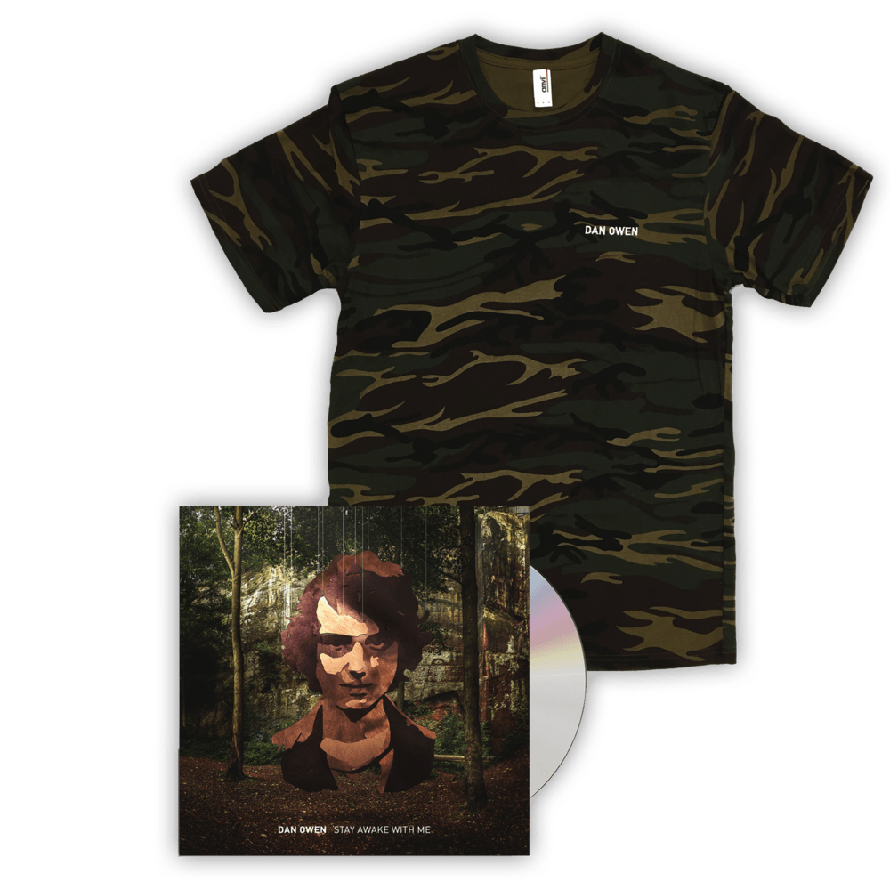 Buy Online Dan Owen - Camo T-Shirt + Stay Awake With Me CD Album