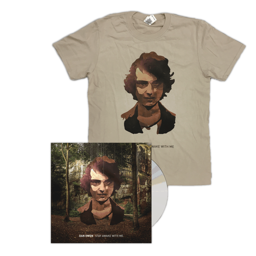 Buy Online Dan Owen - Stay Awake With Me T-Shirt + CD Album