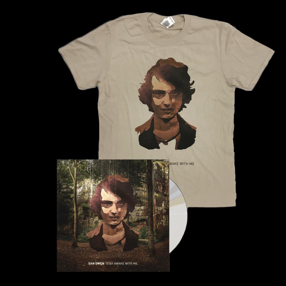 Buy Online Dan Owen - Stay Awake With Me T-Shirt + CD