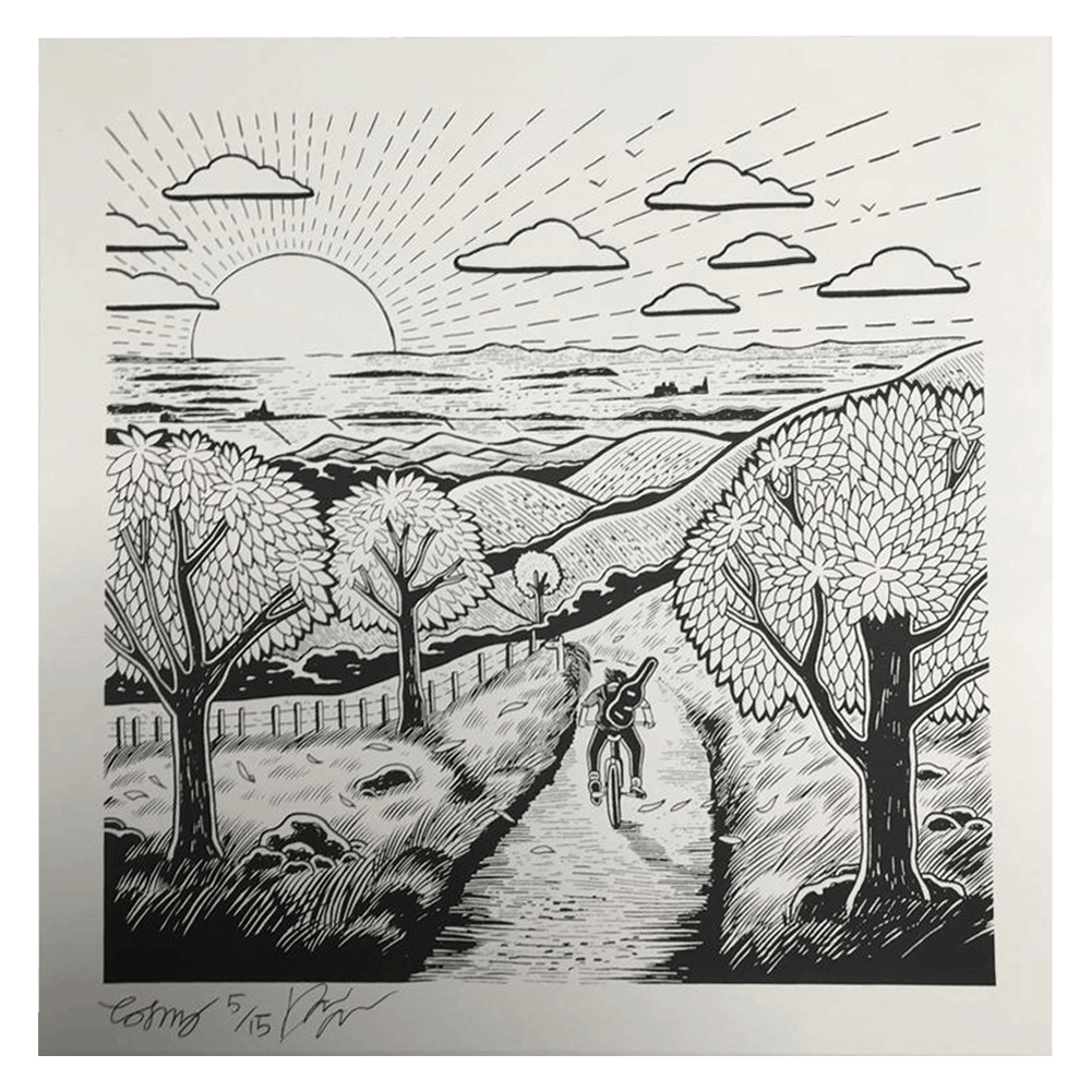 Buy Online Dan Owen - Running to the Hills 12x12 Screen Print