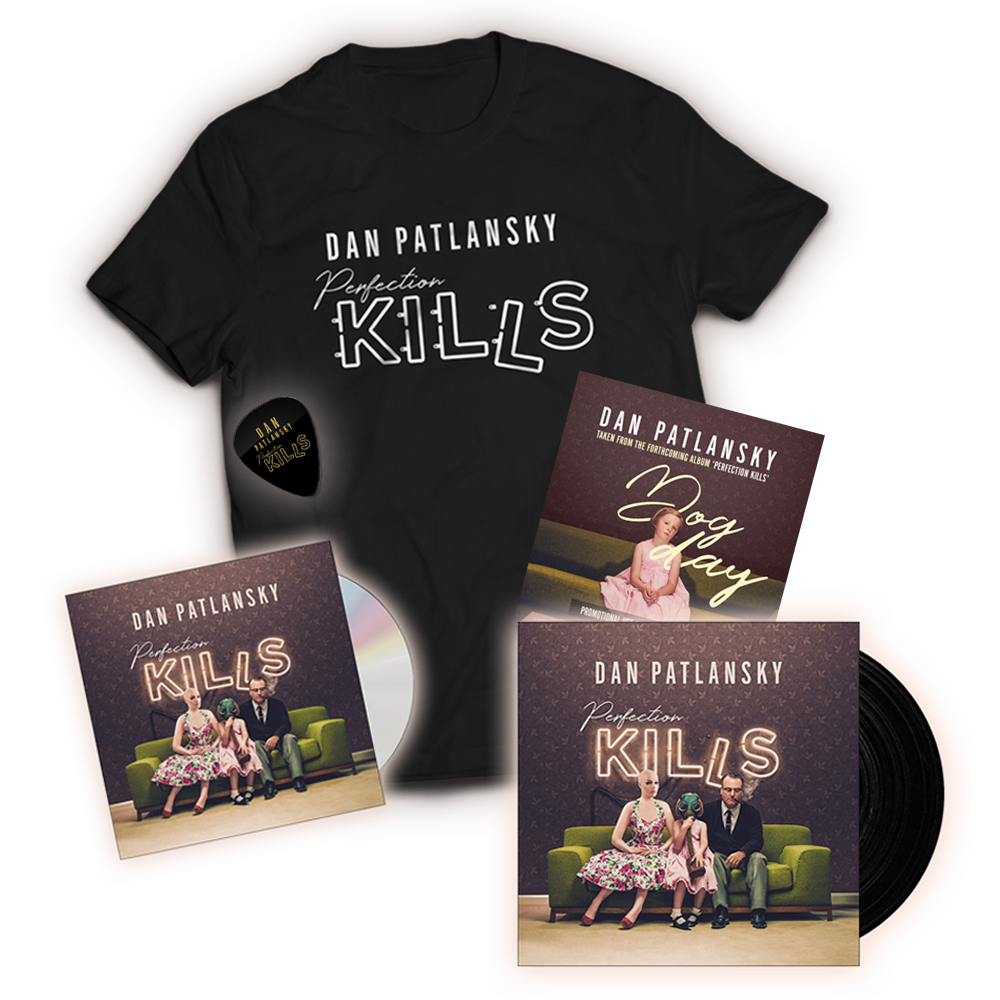 Buy Online Dan Patlansky - Ultimate Bundle - Perfection Kills Vinyl - CD - Exclusive T-Shirt - Exclusive Free Plectrum - Exclusive Promo CD