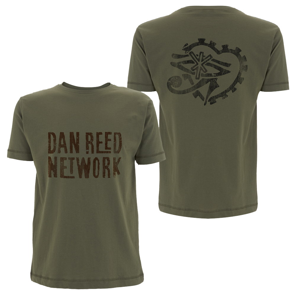 Buy Online Dan Reed Network - DRN Retro Logos Military Mens T-Shirt
