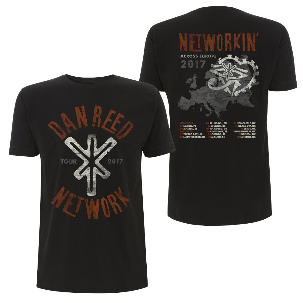 Buy Online Dan Reed Network - DRN Tour Logo Black Mens T-Shirt
