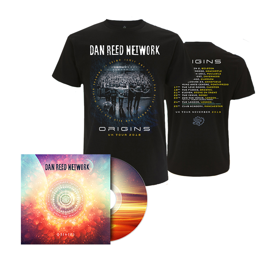 Buy Online Dan Reed Network - Origins CD + Tour T-Shirt