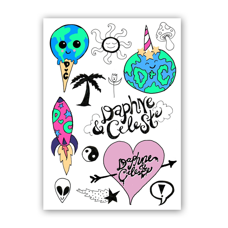Buy Online Daphne & Celeste - Temporary Tattoo Pack