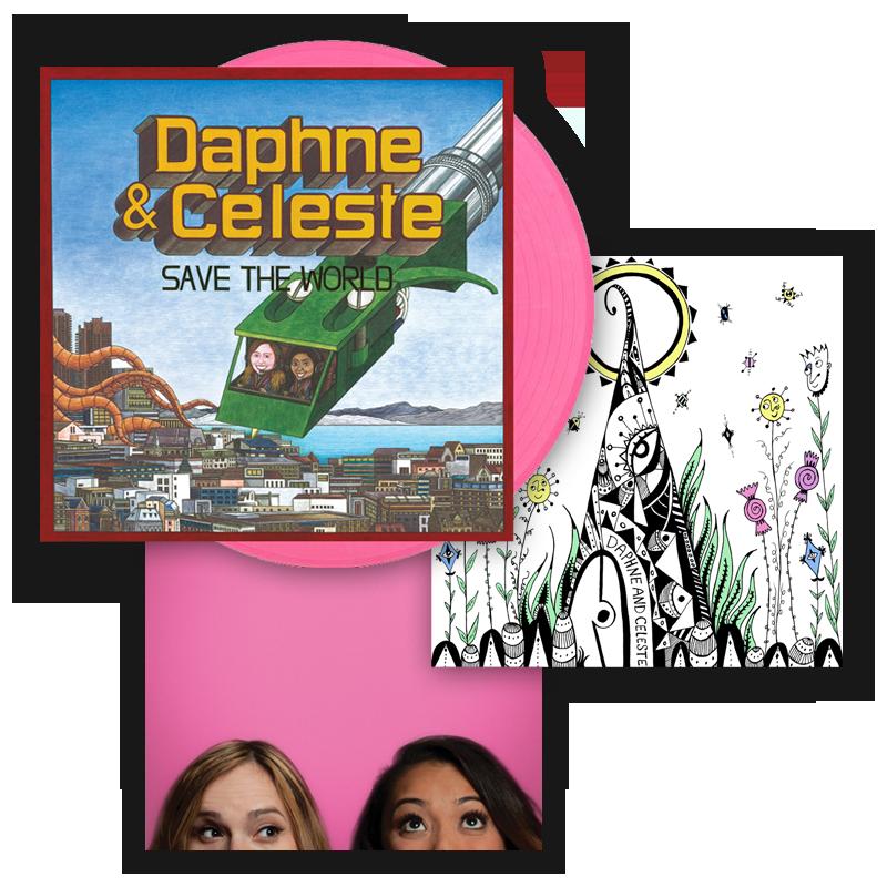 Buy Online Daphne & Celeste - Daphne & Celeste Save The World Pink Vinyl (Alt Sleeve) + A5 Art Print + Picture
