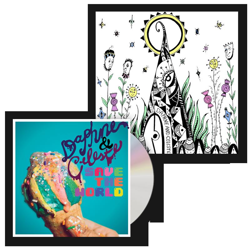 Buy Online Daphne & Celeste - Daphne & Celeste Save The World CD (Signed) + A5 Art Print
