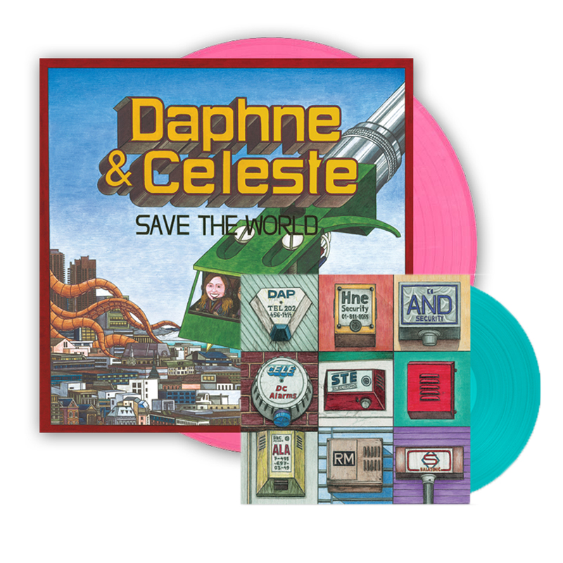 Buy Online Daphne & Celeste - Daphne & Celeste Save The World Pink Vinyl & Alarms 7-Inch Vinyl Single