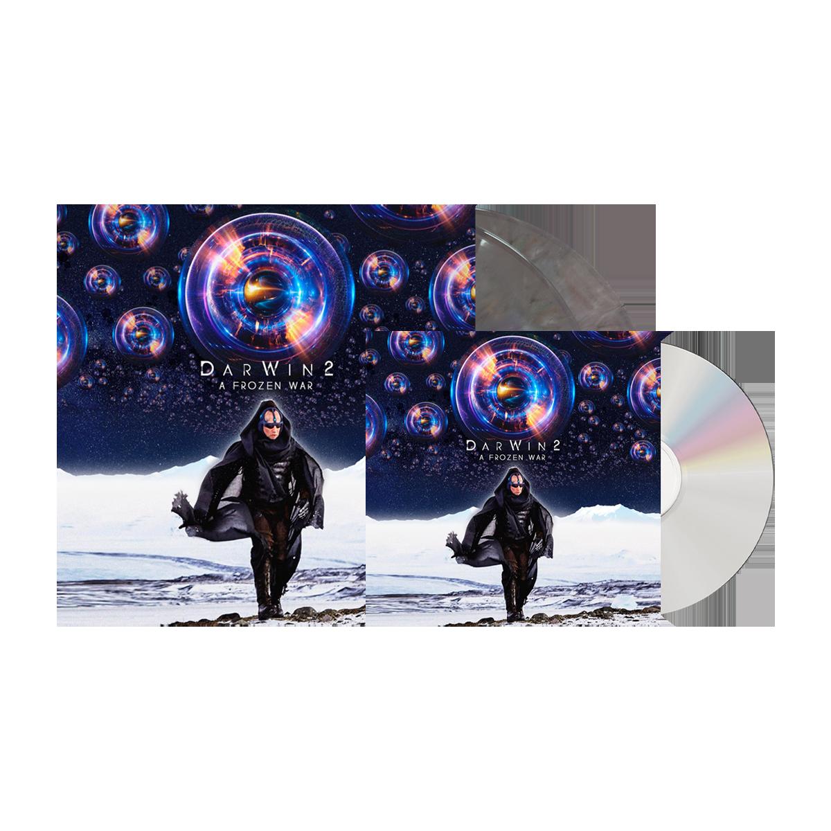 Buy Online DarWin - A Frozen War CD + Double Coloured Vinyl Gatefold LP with 30 x 20 poster