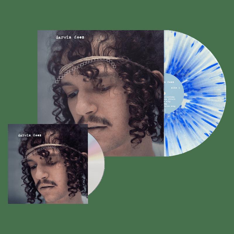 Buy Online Darwin Deez - Darwin Deez (10 Yearz) CD + White/Blue Splatter Vinyl + Bonus 7-Inch Vinyl