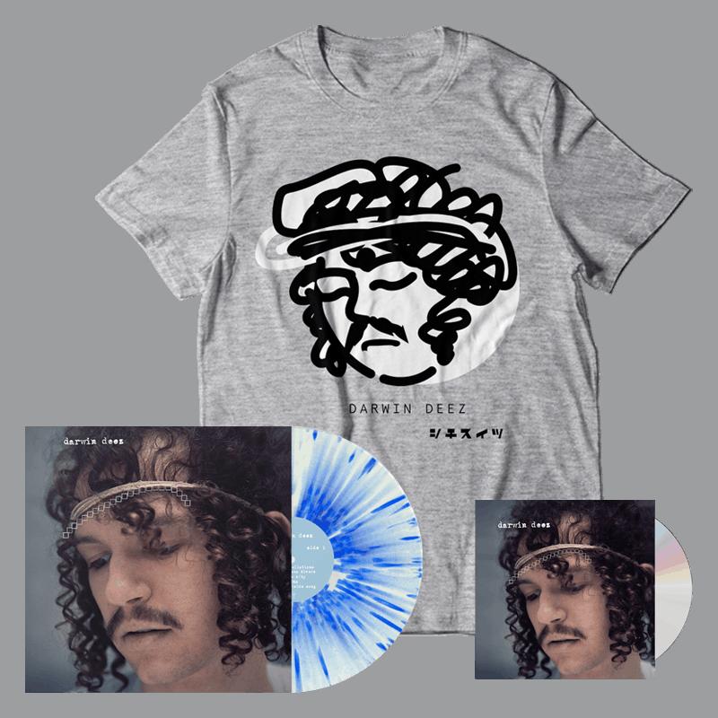 Buy Online Darwin Deez - Darwin Deez (10 Yearz) CD + White/Blue Splatter Vinyl + Bonus 7-Inch Vinyl + T-Shirt