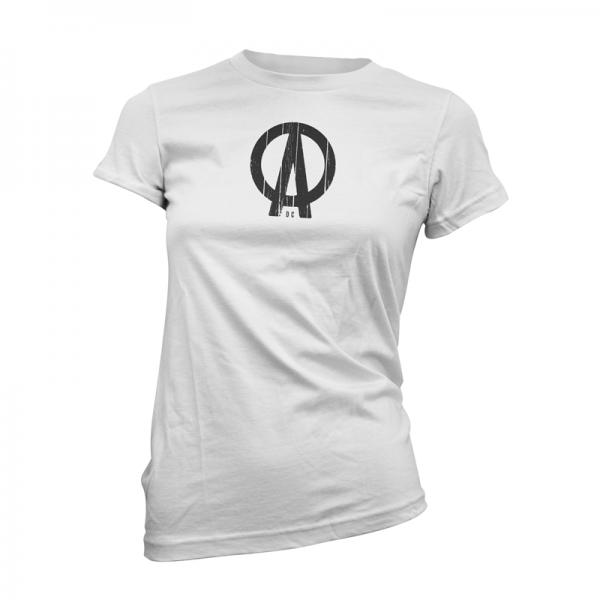 Buy Online Dave Clarke - DC Logo White Womens T-Shirt