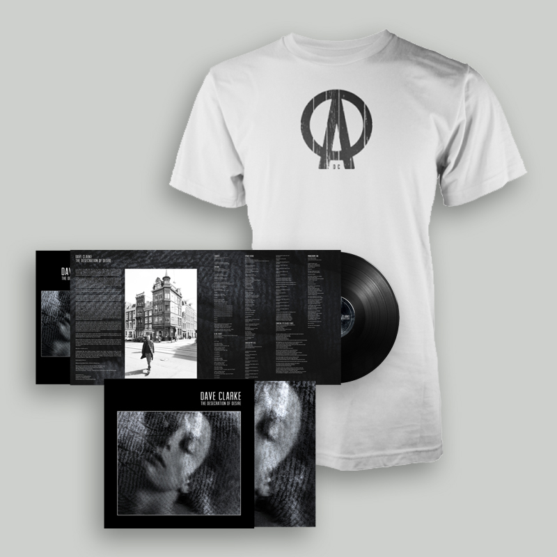 Buy Online Dave Clarke - The Desecration Of Desire Deluxe Vinyl LP (Ltd Edition, Black Vinyl,) + White T-Shirt