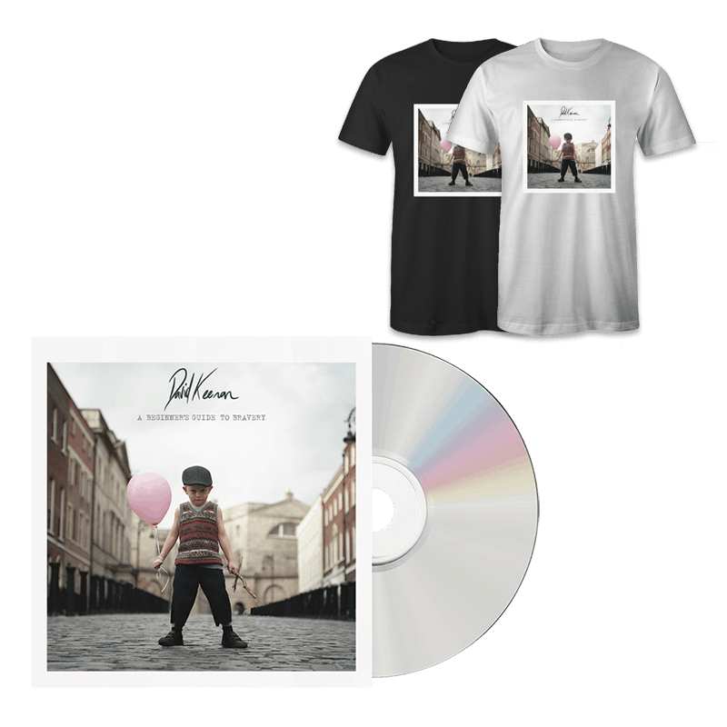 Buy Online David Keenan - A Beginners Guide To Bravery CD + T-Shirt
