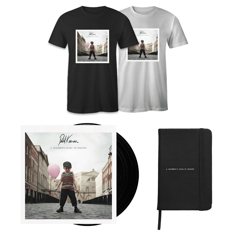 Buy Online David Keenan - A Beginners Guide To Bravery Vinyl + Notebook + T-Shirt