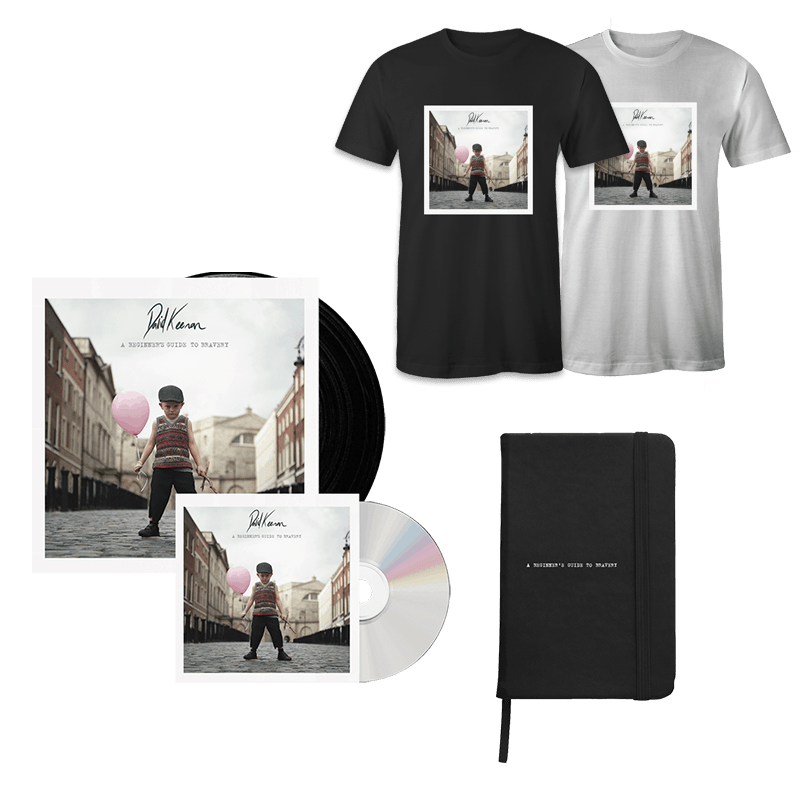 Buy Online David Keenan - A Beginners Guide To Bravery Vinyl + CD + Notebook + T-Shirt
