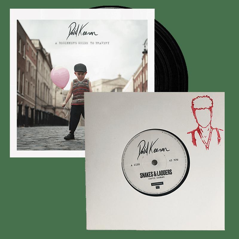 Buy Online David Keenan - A Beginners Guide To Bravery Vinyl Album + 7-Inch Single