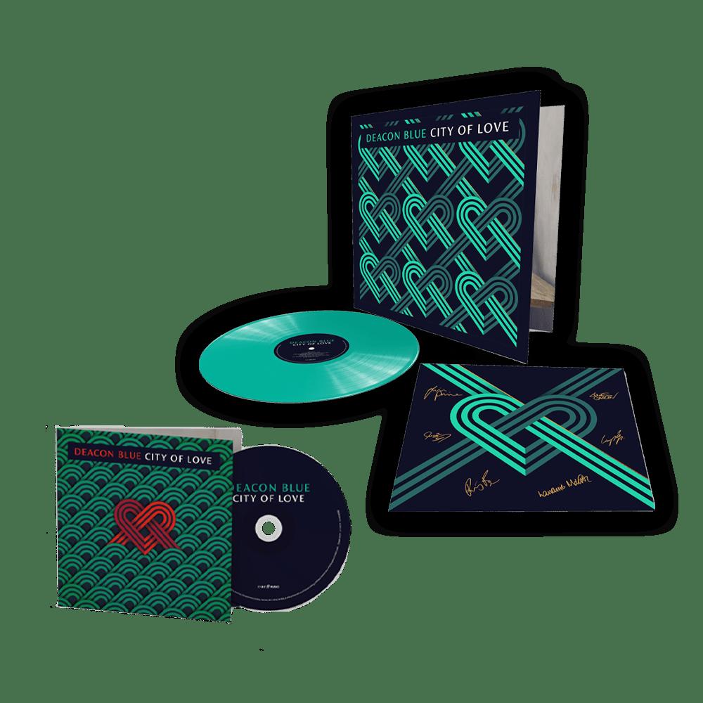 Buy Online Deacon Blue - City Of Love CD + Coloured Vinyl Gatefold (Exclusive Ed. Incl. 12x12 Signed Art Print)