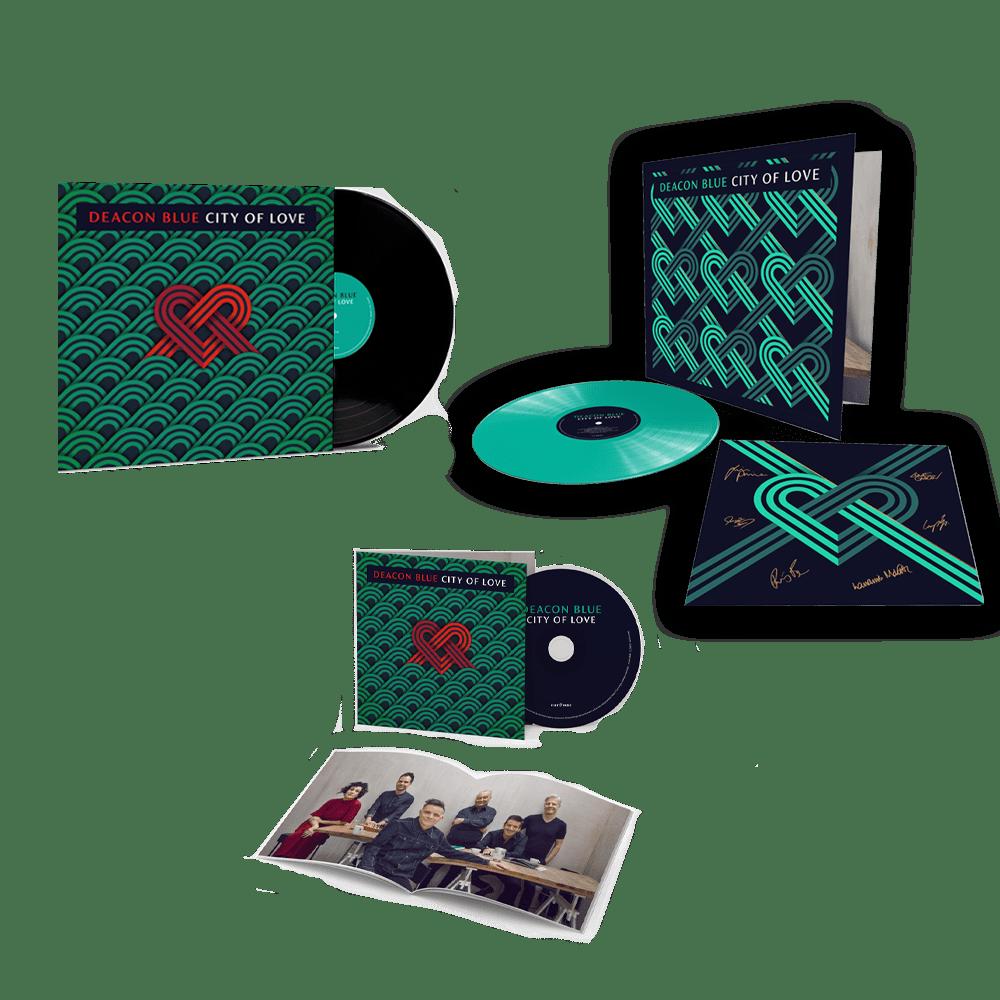 Buy Online Deacon Blue - City Of Love CD + Black Vinyl + Coloured Vinyl Gatefold (Exclusive Ed. Incl. 12x12 Signed Art Print)