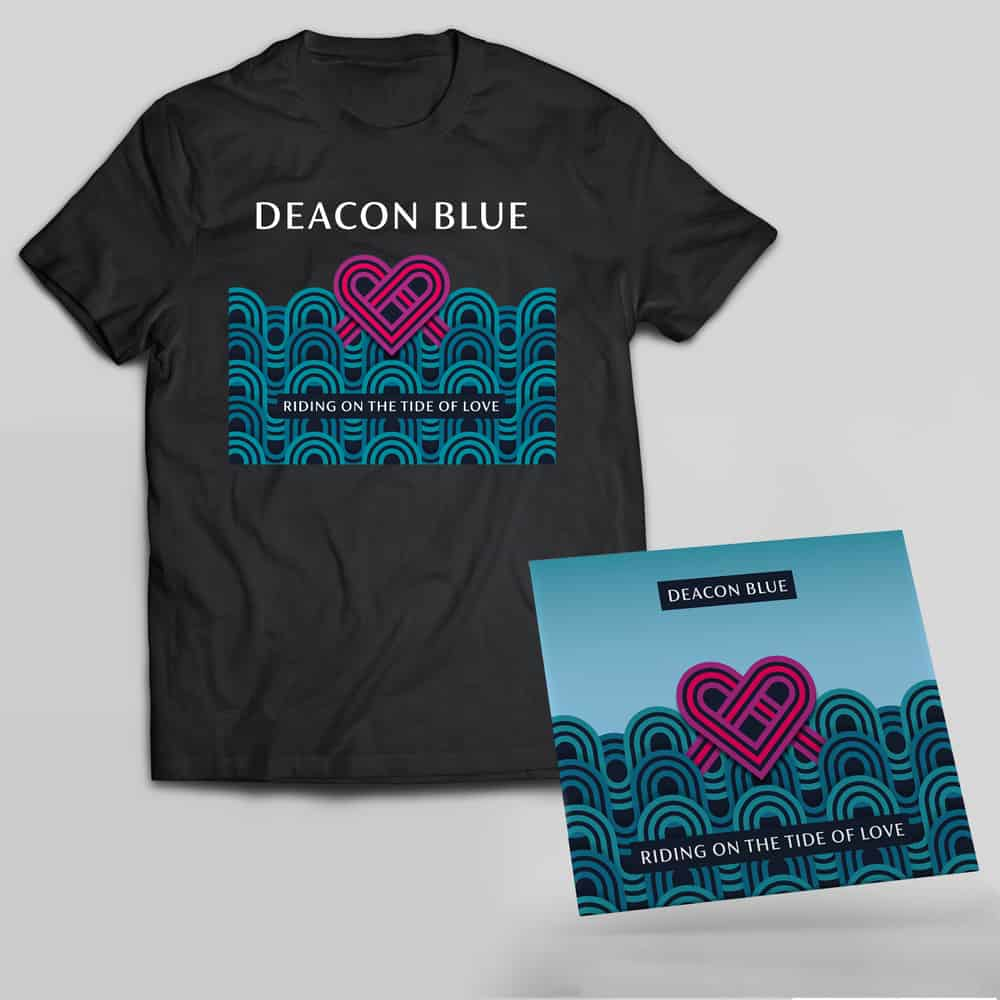 Buy Online Deacon Blue - Riding On The Tide Of Love CD + T-Shirt
