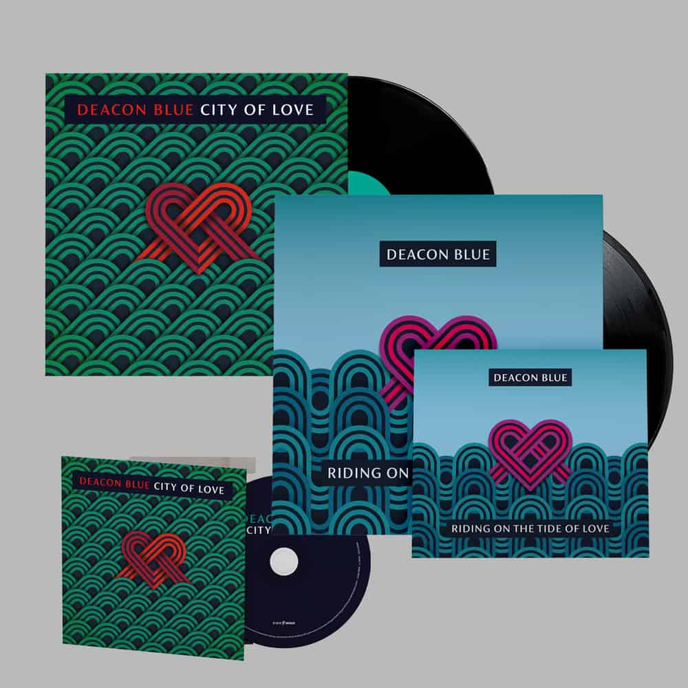 Buy Online Deacon Blue - Riding On The Tide Of Love CD + Riding On The Tide Of Love Black LP + City Of Love CD + City Of Love Vinyl