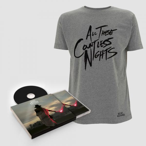 Buy Online Deaf Havana - All These Countless Nights Deluxe CD + T-Shirt