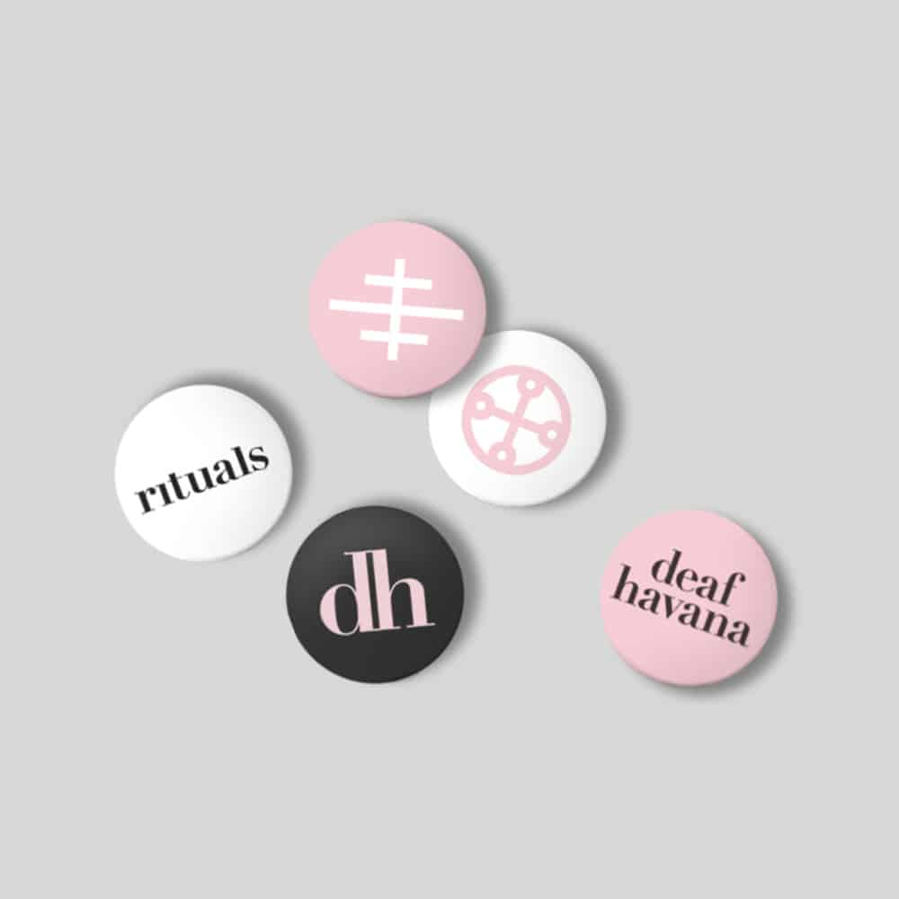Buy Online Deaf Havana - Rituals Pin Badge Set