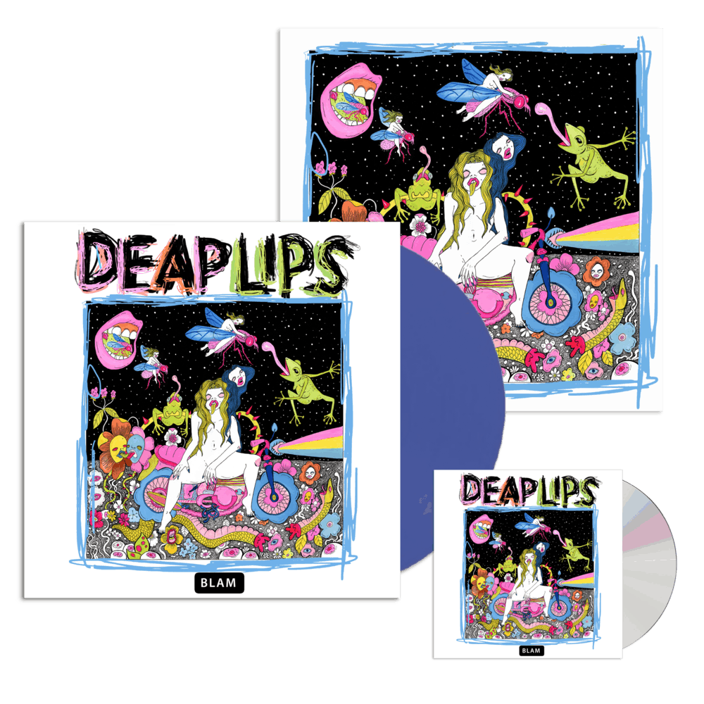 Buy Online Deap Lips - Deap Lips Blue Vinyl + CD Album + 12-Inch Print (Signed)