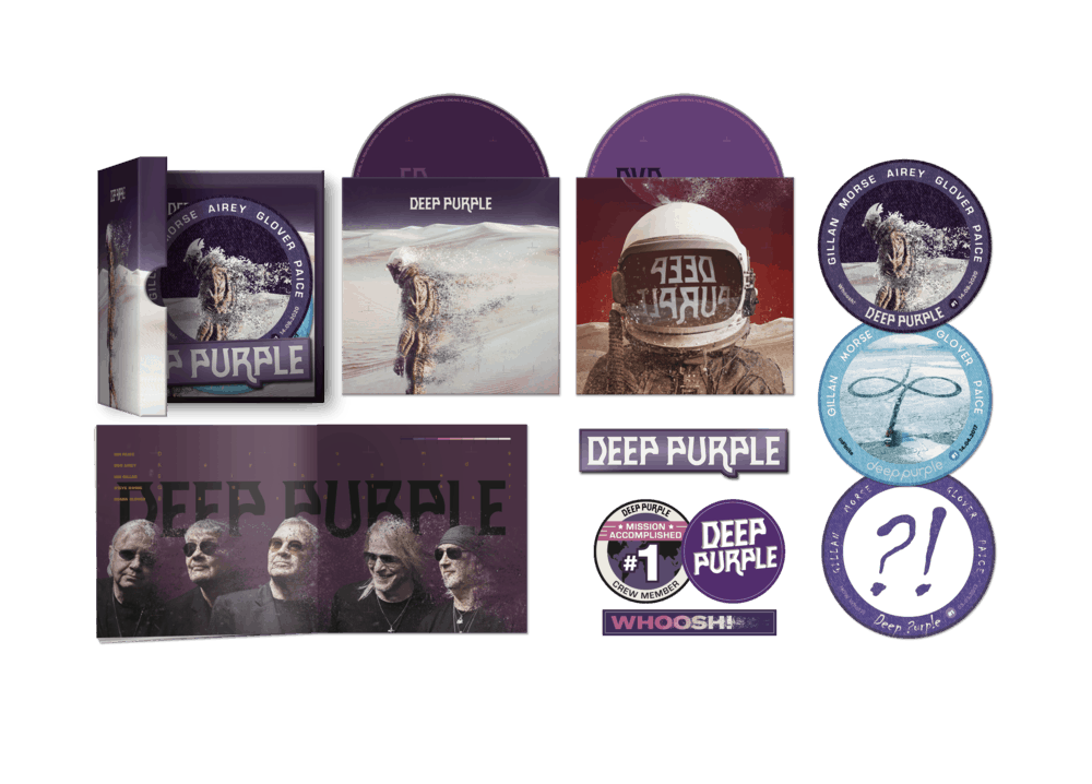 Buy Online Deep Purple - Limited Hattrick Edition (incl. 3 exclusive patches, 3 stickers and 1 magnet)