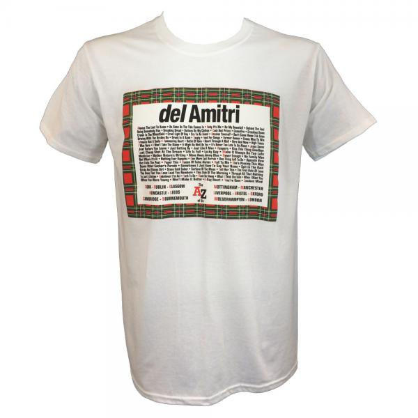 Buy Online Del Amitri - The A-Z Of Us 2014 White Tour T-Shirt + Free Programme