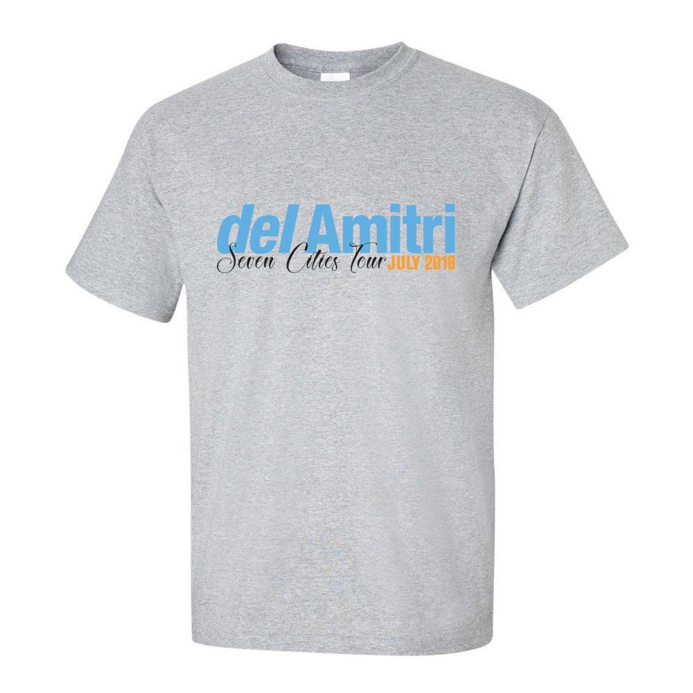 Buy Online Del Amitri - Grey Seven Cities T-Shirt