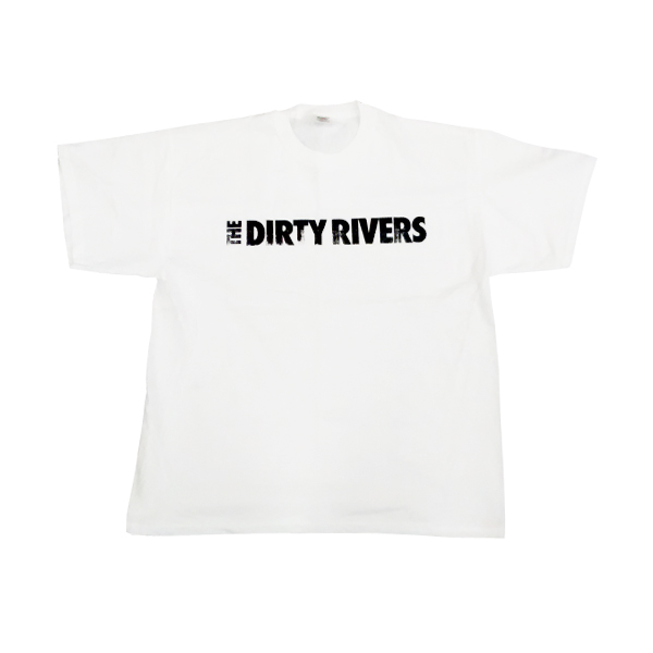 Buy Online The Dirty Rivers - White Logo T-Shirt