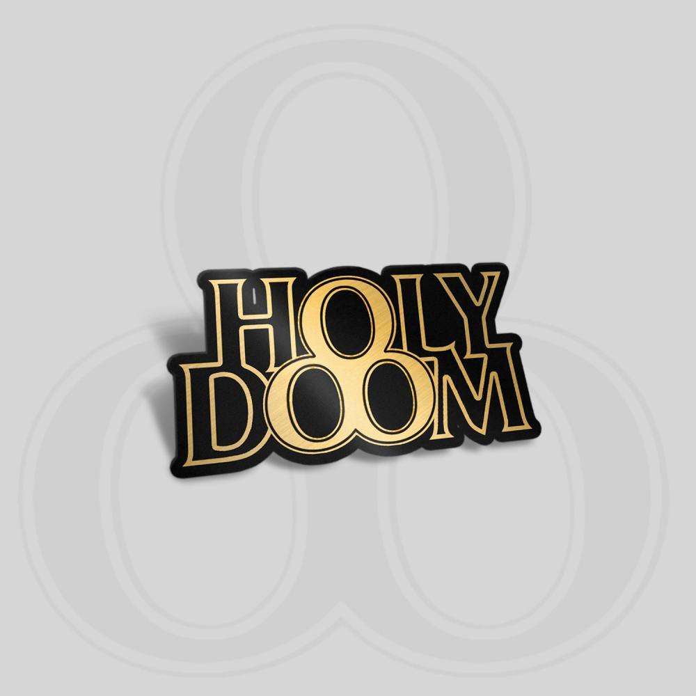 Buy Online Demob Happy - Holy Doom Pin Badge