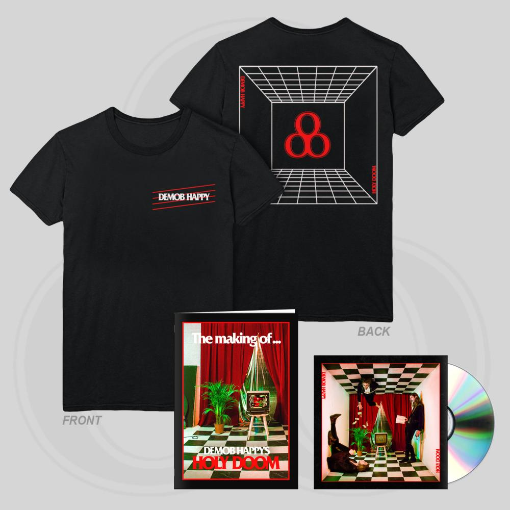 Buy Online Demob Happy - Holy Doom CD + T-Shirt + Zine