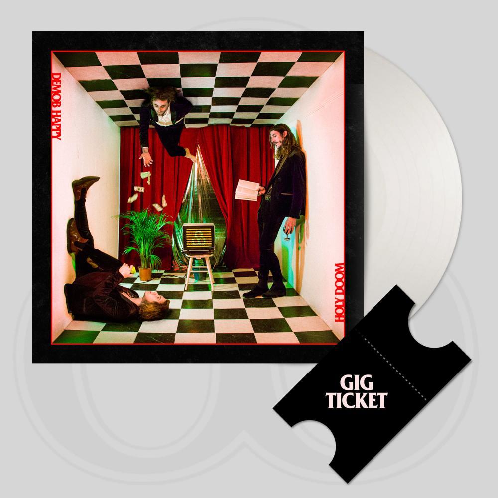 Buy Online Demob Happy - Holy Doom White Vinyl LP (Signed) + UK Tour Ticket