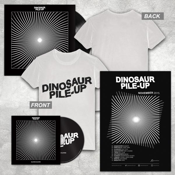 Buy Online Dinosaur Pile-Up - Eleven Eleven CD Album + LP + Poster + White Logo T-Shirt