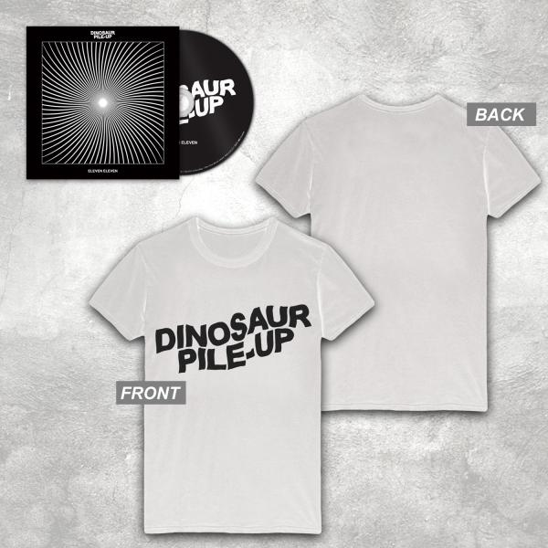 Buy Online Dinosaur Pile-Up - Eleven Eleven CD Album + White Logo T-Shirt