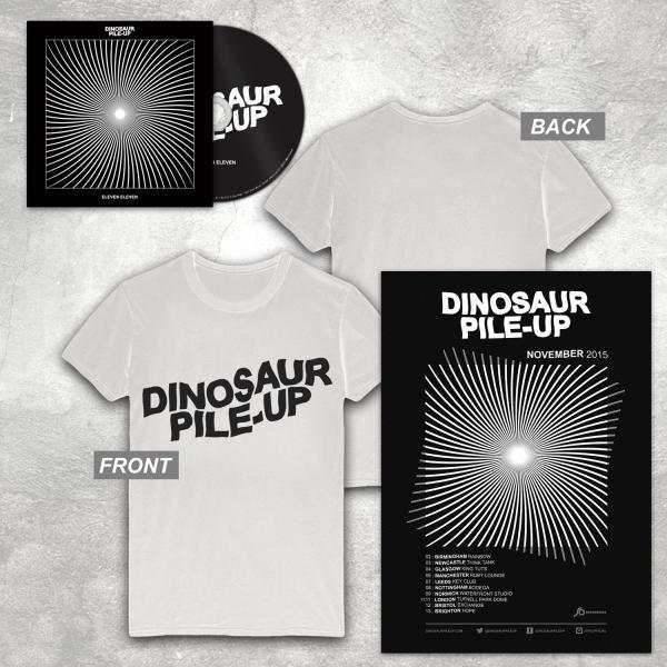 Buy Online Dinosaur Pile-Up - Eleven Eleven CD Album + Poster + White Logo T-Shirt