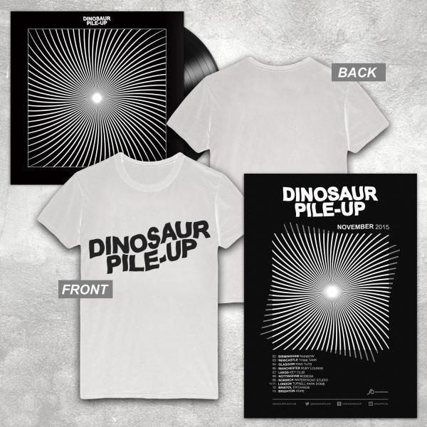 Buy Online Dinosaur Pile-Up - Eleven Eleven LP + Poster + White Logo T-Shirt