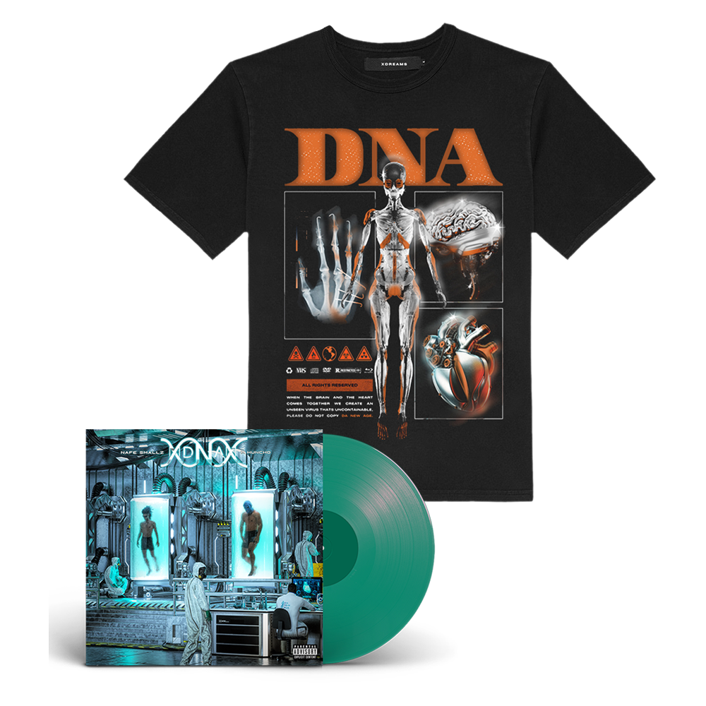 Buy Online M Huncho & Nafe Smallz - DNA - Da New Age: Mixtape Green Vinyl + DNA T-Shirt