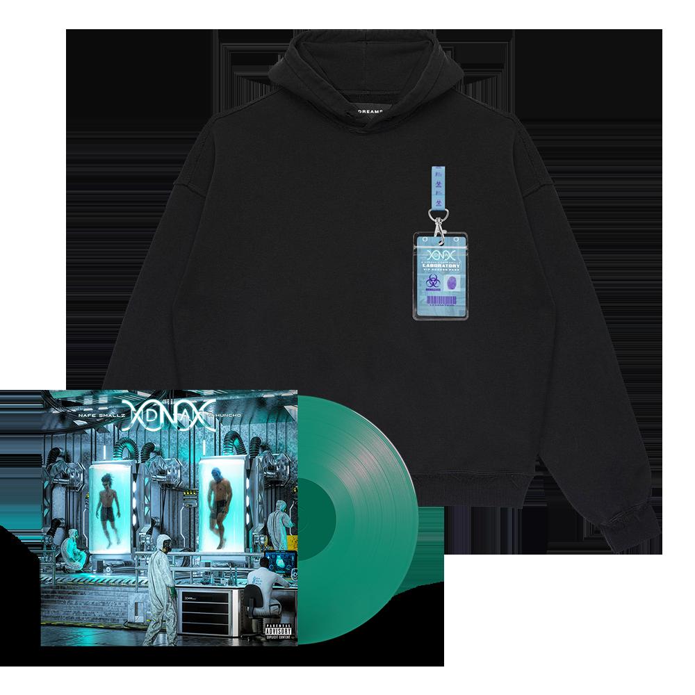 Buy Online M Huncho & Nafe Smallz - DNA - Da New Age: Mixtape Green Vinyl + DNA Laminate Hoody