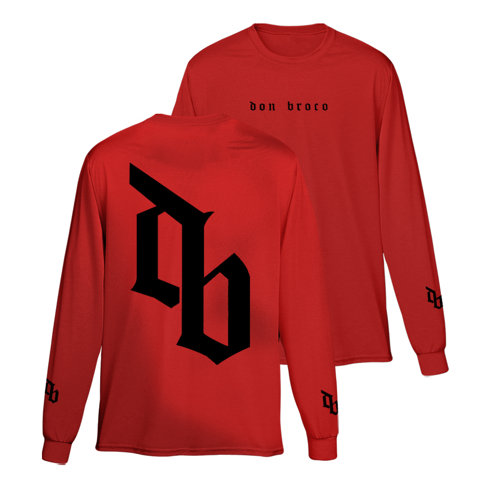 Buy Online Don Broco - DB Long Sleeve T-Shirt (Red)