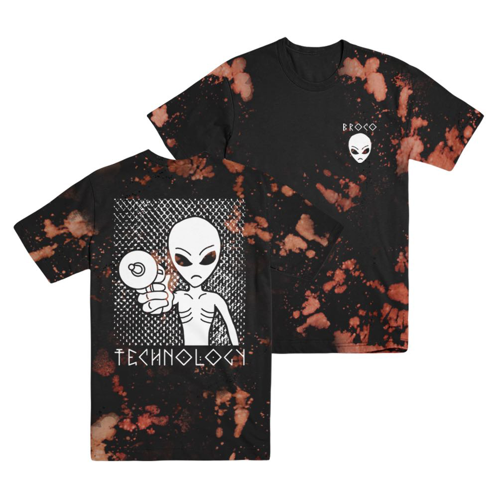 Buy Online Don Broco - Alien Bleached T-Shirt